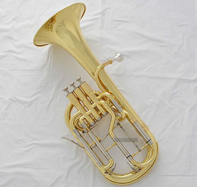 High grade New Gold Alto Horn Eb Keys 3 Piston Tuning Slide Trigger With Case