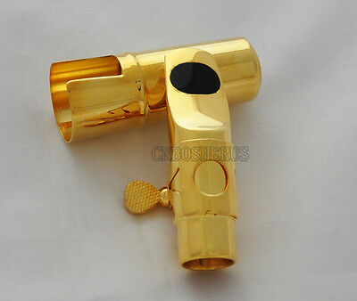 Top Jazz Metal Mouthpiece For Soprano Saxophone Sax Gold plated MPC Size 5-12