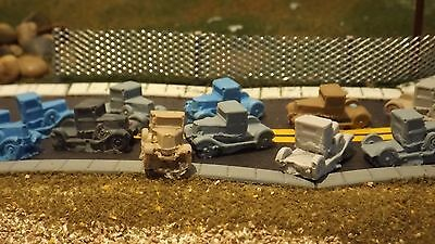 N-scale 12 Unfinished Old Fashioned Trucks 1:160 Model Train Detail Parts