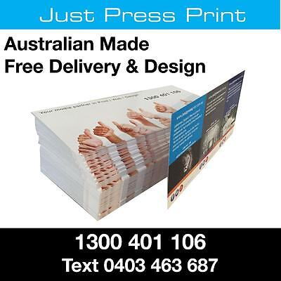 10000 DL Flyers FULL COLOUR 2 sides DESIGN & PRINT 150gsm Gloss