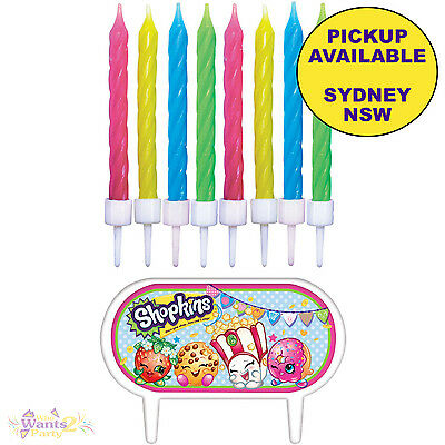 Shopkins Birthday Party Supplies 8 Candles & Cake Topper Decorations