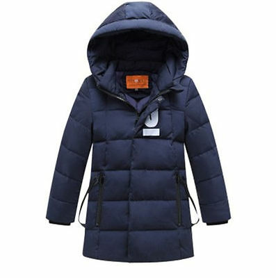 new High quality Kids Boys Hooded Thicken Down Jacket 5 Color size 3-7Y