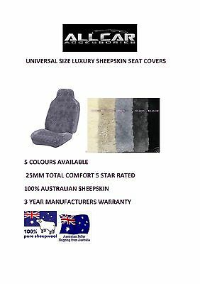 Sheepskin Car Seat covers 30mm TC, 5 Star, 5 Colours Avail, Size 60/25