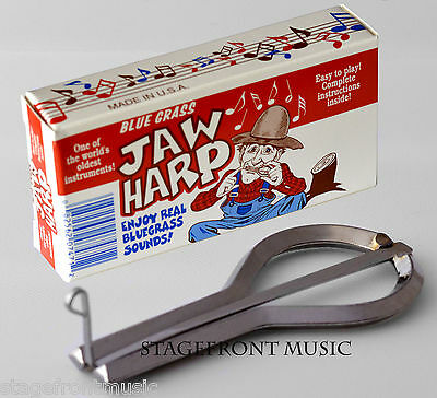 Bluegrass Jaw Harp - High Quality Nickel Plated Steel. Made In Usa