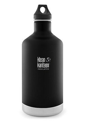 Klean Kanteen 64oz 1900ml Insulated Classic Drink Bottle Shale Black