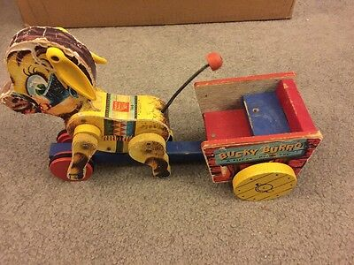 Vintage Bucky Burro A Fisher-Price Toy