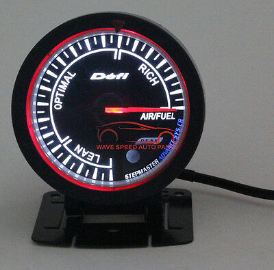 60Mm Def1 Black Face Auto Air/fuel Ratio Gauges Meters Improve Fuel Efficiency