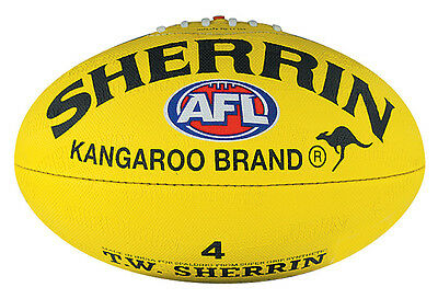 Afl Sherrin Yellow Synthetic  Size 4  Football - Brand New