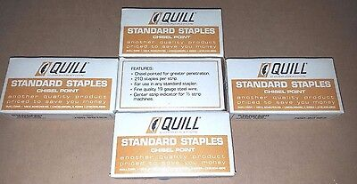 Quill Standard Staples Chisel Point 5 Boxes Of 5000 For 25,000 Staples Total!