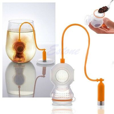 Deep Tea Diver Infuser Loose Leaf Strainer Bag Mug Scuba Diving Diffusers Filter