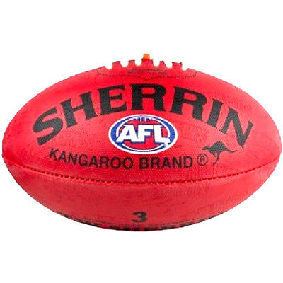 Afl Sherrin Red Synthetic  Size 3  Football - Brand New
