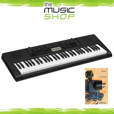 Casio CTK-3200 61 Key Electronic Keyboard with Power Supply & Touch Resp CTK3200