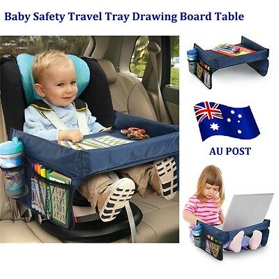 Baby Safety Travel Tray Drawing Board Table Kids Car Seat Snack Waterproof ee