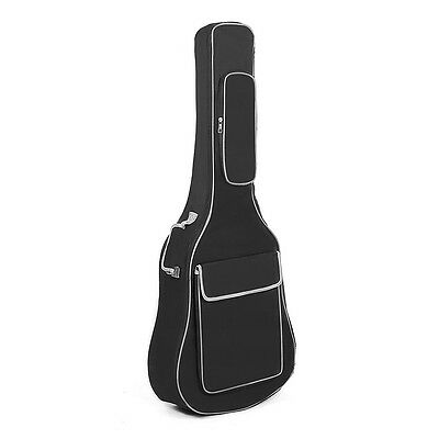 """40/41"""" Double Acoustic Guitar Bags Straps Padded Soft Case Gig Bag Backpack new"""