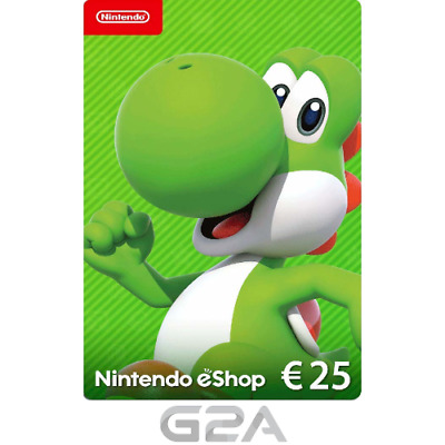 Nintendo eShop 25 Euro Card - 25€ Nintendo Switch / 3DS / WiiU Digital Key [EU]