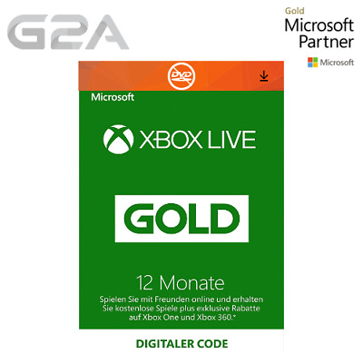 Xbox Live Gold Mitgliedschaft 12 Monate Card Xbox 360/One - 12 Month Key GLOBAL