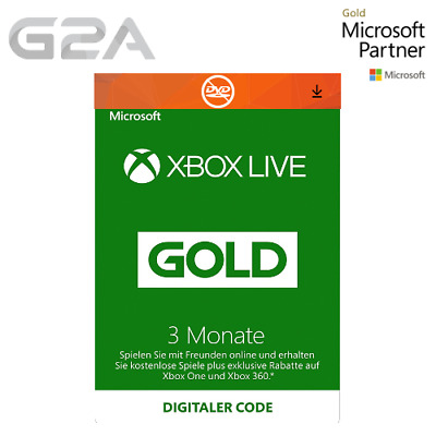 3 Monate Xbox Live Gold Midgliedschaft Card - Microsoft Xbox ONE X / 360 Key