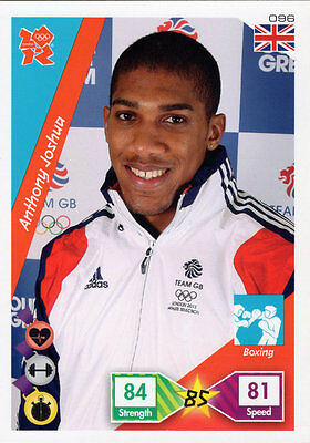 Panini Official London 2012 Olympics Adrenalyn Xl Anthony Joshua - Boxing