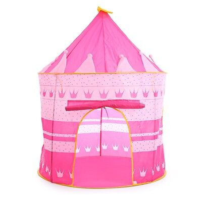 Portable Folding Play House Portable Outdoor Toy Tent Castle Cubby Playhuse Pink
