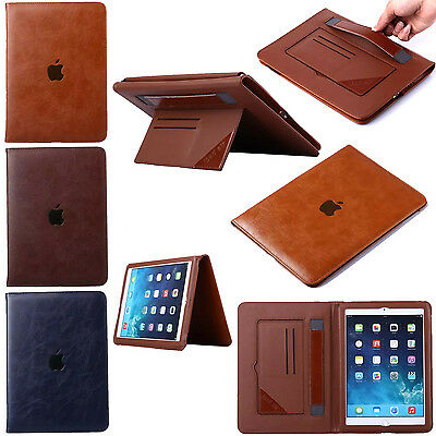Luxury PU Leather Book Smart Stand Case Cover for iPad 2 3 4 Air Air2 Mini Pro
