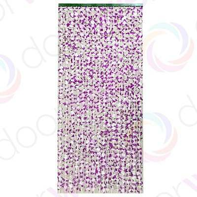 Bamboo BEADED DOOR CURTAIN Wooden Flower Petals String Beads Fly Bug Screen