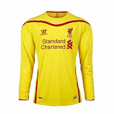 Warrior Liverpool Away Shirt 2014/15 Long Sleeved Mens 100% Authentic