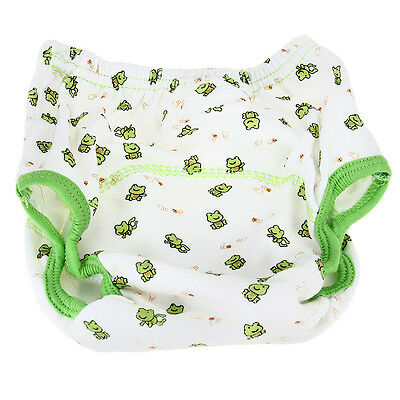 Cotton Reusable Infant Baby Diaper Pants Waterproof Cover Training Frog Print -