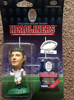 CORINTHIAN HEADLINERS ENGLAND RUGBY UNION Ben Clarke  SEALED IN BLISTER PACK