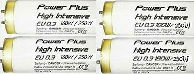 NEW Power Plus EU 0.3 Sunbed Tubes/Lamps 6ft 160/250w Box of 25