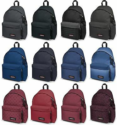 Eastpak Padded Pak'R Backpack Rucksack Bag - Black, Red, Blue, Grey, Denim