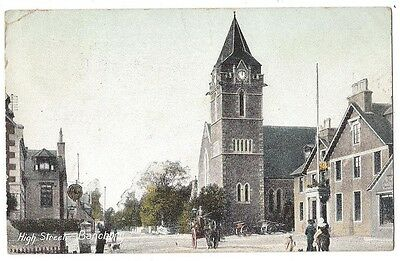 BANCHORY High Street, Wrench Series Postcard, Postally Used 1908