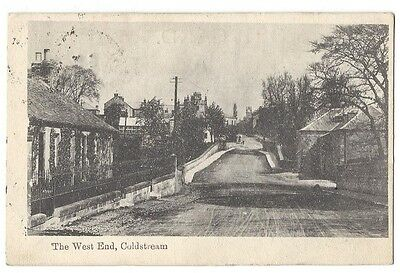 COLDSTREAM The West End, Postally Used Postcard 1904