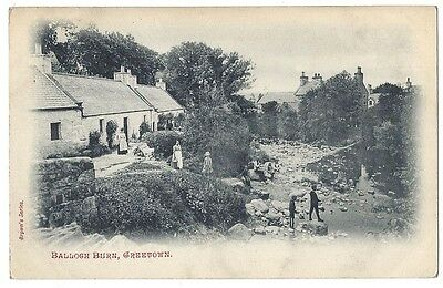 CREETOWN Balloch Burn, Old Postcard Unused, Brown's Series