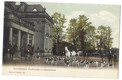 MANDERSTON Berwickshire Foxhounds Hunt Meeting, Postally Used Postcard 1904