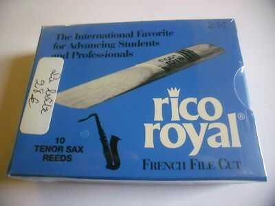RICO ROYAL 10 Anches-reeds Tenor saxophone Force 2,5- NEW