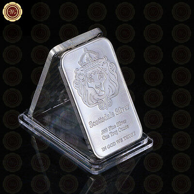 WR Iron 1 TROY OZ Scottsdale Silver Bar Collectable Fine Ingot Bar Gift for Him