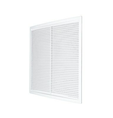 """Air Vent Grille 340mm x 340mm with Fly Screen Ducting Cover Grid 17.4"""" OW72"""