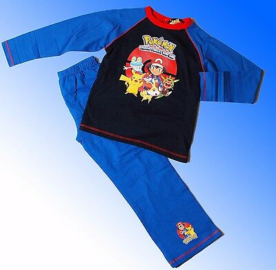 Boys Authentic Official Pokemon Pyjamas Age 5 - 12 Years