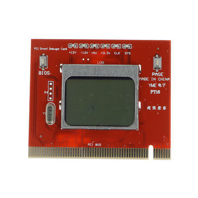 PC PCI Diagnostic Debug Post Test Card Motherboard BIOS Tool With LCD Screen