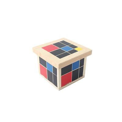 Kids Child Wooden Trinomial Cube Early Learning Mathematics Educational Toy