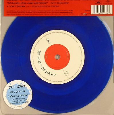 """WHO, The - Be Lucky (Record Store Day 2015) - Vinyl (limited blue vinyl 7"""")"""