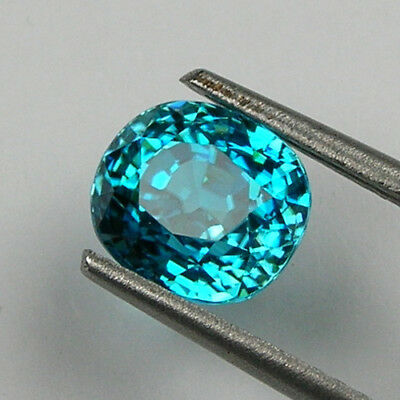 Superb High End Natural Cambodian Blue Zircon -  5.95 Ct