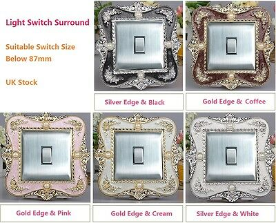 Shining Acrylic Single Light Switch Surround Socket Finger Plate Panel Cover H01