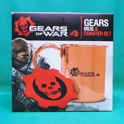 Gears of War 4 Moscow Mule Copper Mug & Omen Coaster Set SEALED