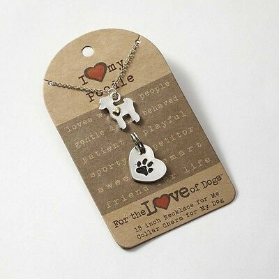 Poodle Necklace & Collar Charm Set 16 Inches