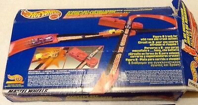 Hot Wheels Track System Starter Set Incomplete Black & Red Tracks Made In Mexico