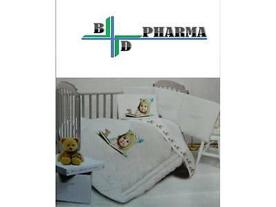 Riviera Home Collection Baby Kit Piumone Paracolpi +Lenzuolino Baby Gufetto