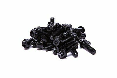 160 SRR Hardware Black Two Piece Split Rim Assembly Bolts M7 x 24mm 10.9 HT Steel for BBS RM OZ Wheels