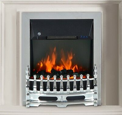 Remote Control Blenheim Brass or Chrome Inset or Free Standing LED Electric Fire