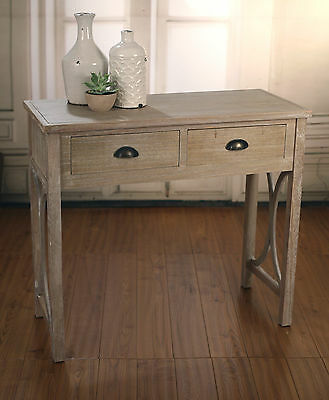 Desk Sofa Table Antique Grey French Provincial with 2 Drawers BRAND NEW